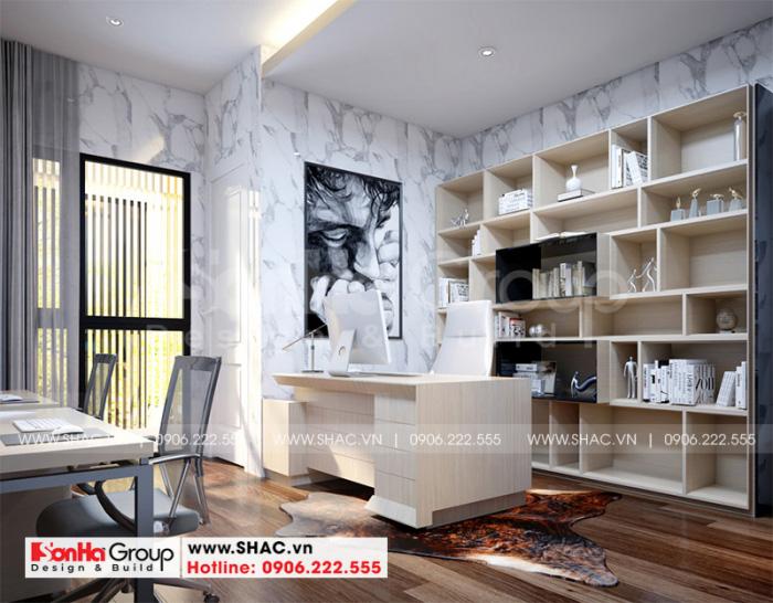 Thiết kế phòng làm việc nhỏ nhắn với nội thất hiện đại theo đúng nguyện vọng gia chủ đặt ra