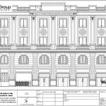 6 Bản vẽ mặt đứng tòa nhà văn phòng 4 tầng tại hải phòng sh vp 0037