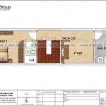 6 Bản vẽ tầng 4 nhà ống hiện đại 4 tầng tại hải phòng sh nod 0205