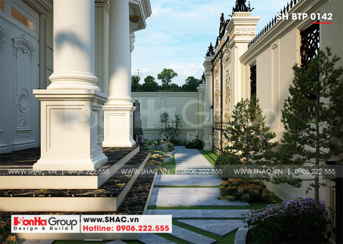 Từng góc của không gian sân vườn cũng rất được đầu tư thiết kế