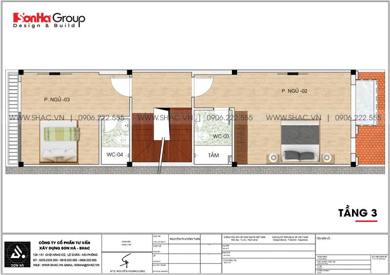 Thiết kế nhà ống tân cổ điển 5 tầng kết hợp kinh doanh tại Hà Nội – SH NOP 0192 6