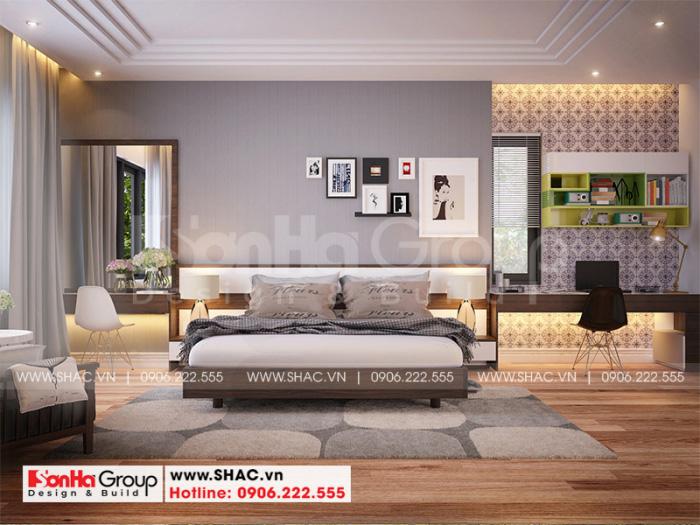 Mẫu phòng ngủ đẹp phong cách hiện đại cho biệt thự thêm sang trọng