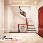 6 Thiết kế nội thất sảnh thang nhà ống tân cổ điển 2 tầng tại sài gòn sh nop 0193