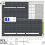 7 Bản vẽ tầng mái biệt thự hiện đại 2 mặt tiền tại hà nam sh btd 0076