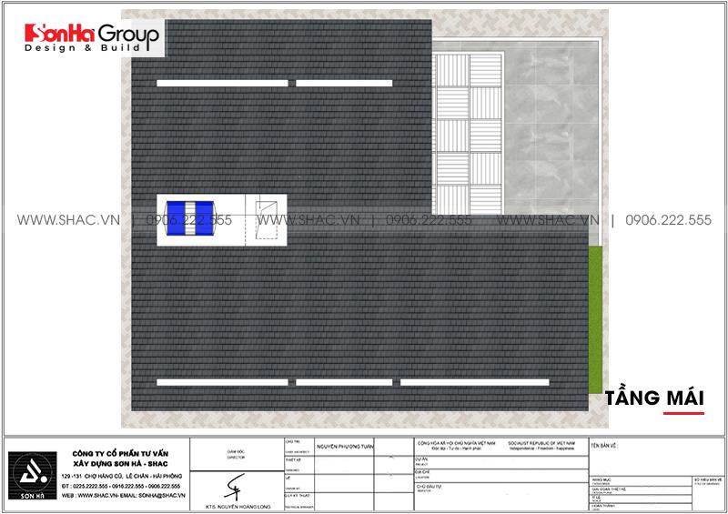 Biệt thự hiện đại 3 tầng mái thái diện tích 9,2x11,7m tại Hà Nam – SH BTD 0076 7