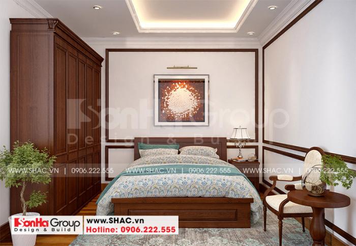 Phương án bố trí phòng ngủ nhà ống ấn tượng với đồ nội thất gỗ