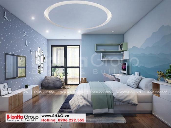 Ý tưởng bày trí mẫu phòng ngủ đẹp đơn giản dành cho cậu con trai của gia chủ với không gian sinh hoạt thoải mái, tiện nghi nhất