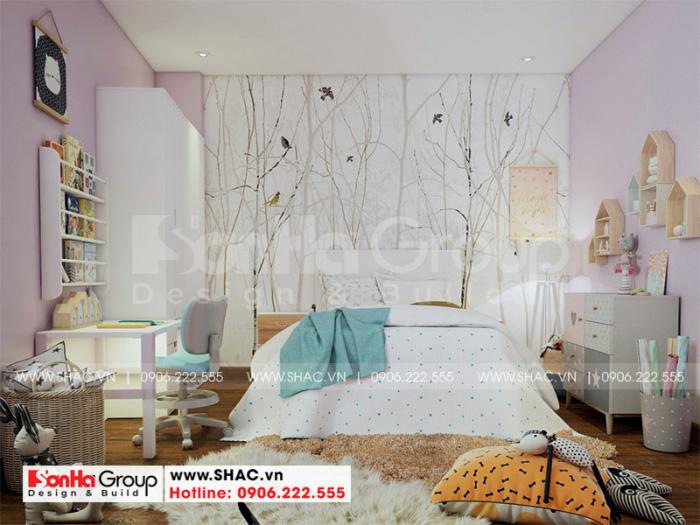 Cách bố trí phòng ngủ nhà ống ấn tượng bởi các gam màu tươi trẻ