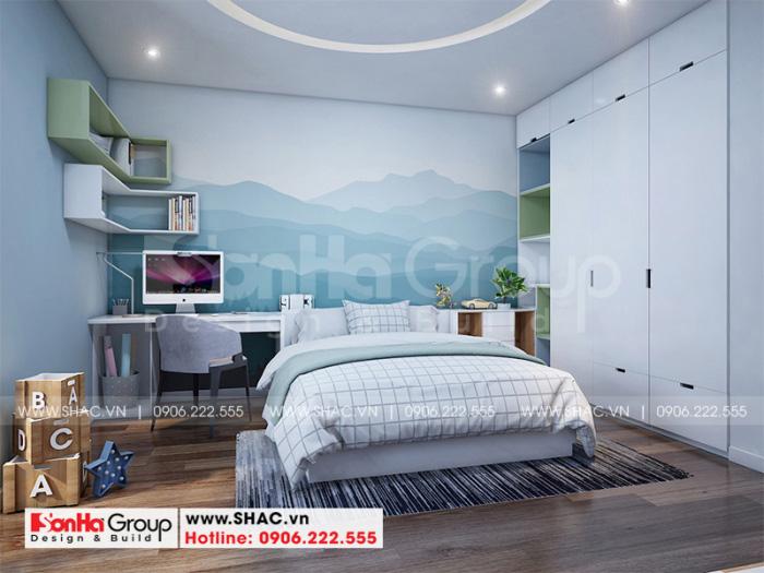 Với mỗi sở thích và cá tính của từng thành viên trong gia đình mà KTS Sơn Hà có lối trang trí nội thất phòng ngủ theo nhiều màu sắc bắt mắt, tạo nên không gian sinh hoạt ý nghĩa cho từng thành viên