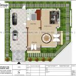 8 Mặt bằng tầng 1 biệt thự tân cổ điển 2 mặt tiền tại hà nội sh btp 0142