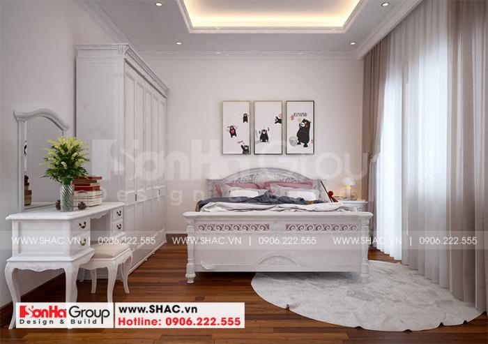 Thiết kế nội thất phòng ngủ cho con gái với màu sắc tươi trẻ ấn tượng