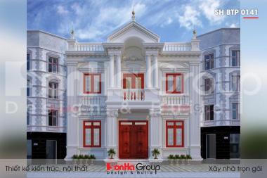 BÌA mẫu biệt thự 2 tầng kiểu tân cổ điển đẹp tại thái bình sh btp 0141