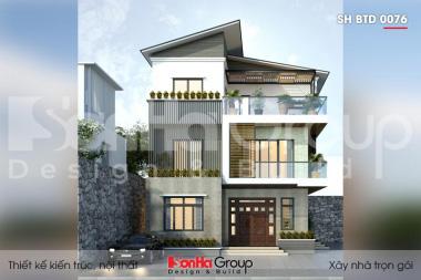 BÌA thiết kế biệt thự 3 tầng 2 mặt tiền kiểu hiện đại tại hà nam sh btd 0076
