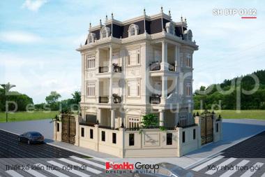 BÌA thiết kế biệt thự tân cổ điển 4 tầng 2 mặt tiền tại hà nội sh btp 0142