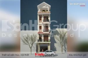 BÌA thiết kế nhà ống 5 tầng kiểu tân cổ điển tại hà nội sh nop 0192