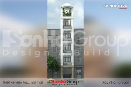 BÌA thiết kế nhà ống tân cổ điển 6 tầng đẹp tại quảng ninh sh nop 0194