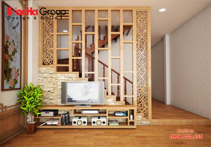 Các mẫu vách ngăn phòng khách và cầu thang hiện đại nhất