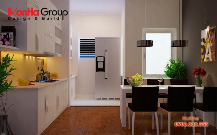 Cách bày trí vật dụng cho mẫu thiết kế phòng bếp diện tích nhỏ đẹp, sinh động và rất ấm cúng
