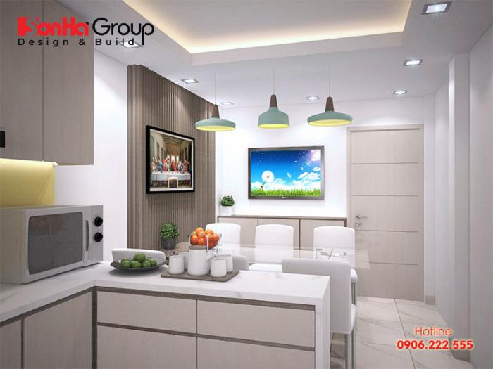 Cách sắp xếp đồ đạc phòng bếp với kiểu dáng gọn gàng khiến căn phòng bếp 10m2 thêm rộng rãi