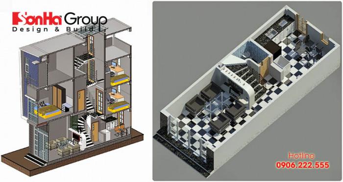 Cách tính bậc cầu thang phong thủy cho nhà lệch tầng tăng vượng khí
