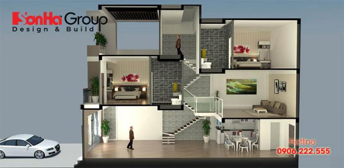 Cách xây nhà lệch tầng phong thủy để tăng vượng khí ngôi nhà