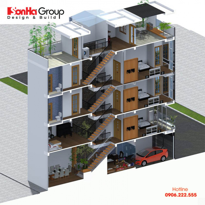 Cầu thang nhà lệch tầng cần được tính toán kỹ khi bố trí và xây dựng
