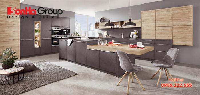 Gợi ý thông minh cho cách thiết kế không gian bếp đẹp hiện đại chuẩn phong thủy