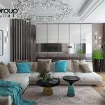 Không gian đẹp phòng khách thiết kế hiện đại và sang trọng 12