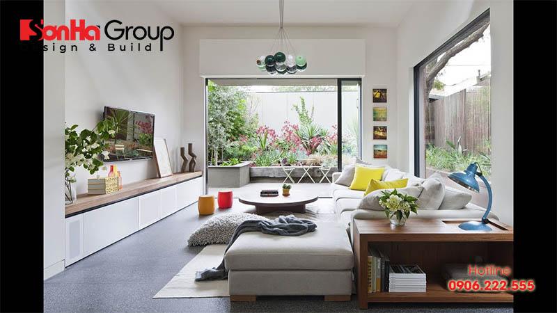 Trang trí phòng khách 20m2 với xu hướng nội thất hiện đại vạn người mê 9