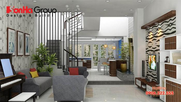 Không gian đẹp phòng khách thiết kế hiện đại và sang trọng 18