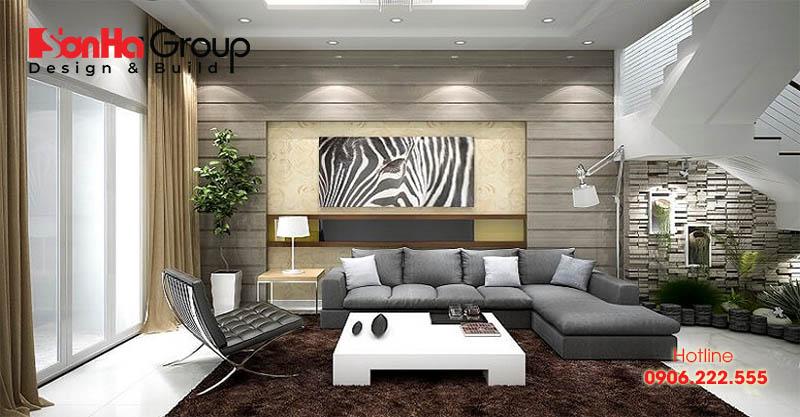 Trang trí phòng khách 20m2 với xu hướng nội thất hiện đại vạn người mê 13