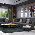 Không gian đẹp phòng khách thiết kế hiện đại và sang trọng 7