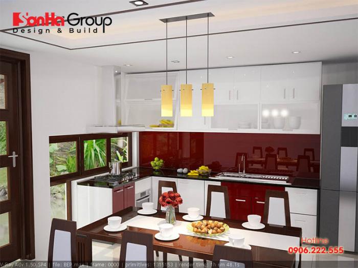 Mẫu phòng bếp nhỏ xinh, diện tích nhỏ đẹp cùng chi phí đầu tư hài hòa với gia đình trẻ được nhiều Gia chủ ưa chuộng hiện nay