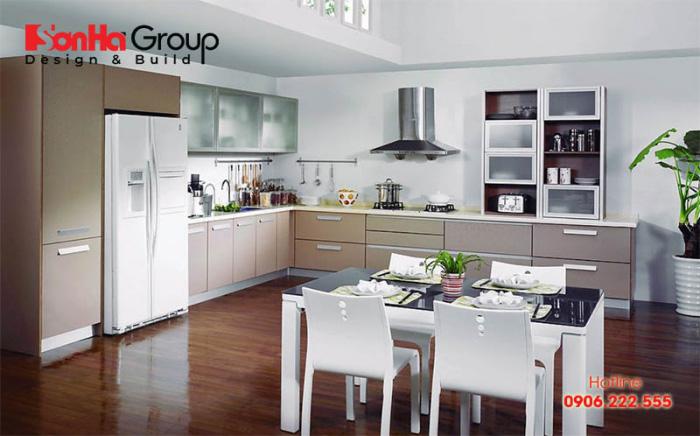 Phương án thiết kế nội thất phòng bếp hiện đại mang đến không gian bếp khang trang