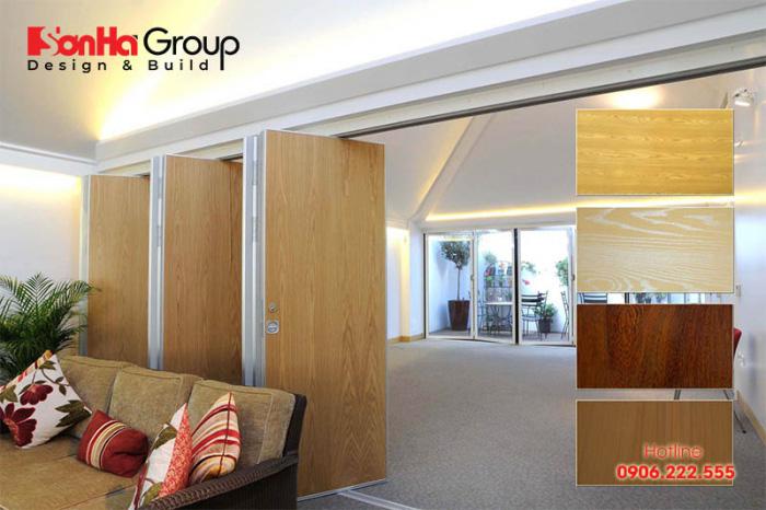 Vách ngăn nhựa giả gỗ hiện được lựa chọn nhiều trong trang trí nội thất