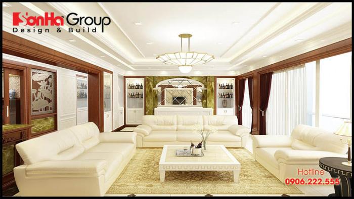 Ý tưởng thiết kế nội thất phòng khách tân cổ điển sang trọng