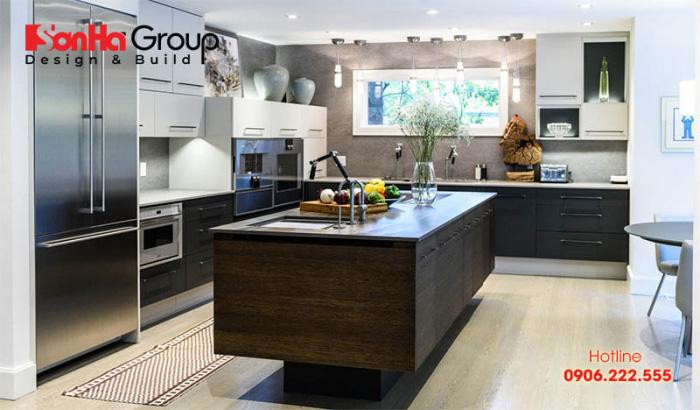 Ý tưởng trang trí nội thất phòng bếp hiện đại với vật liệu tiên tiến nhất