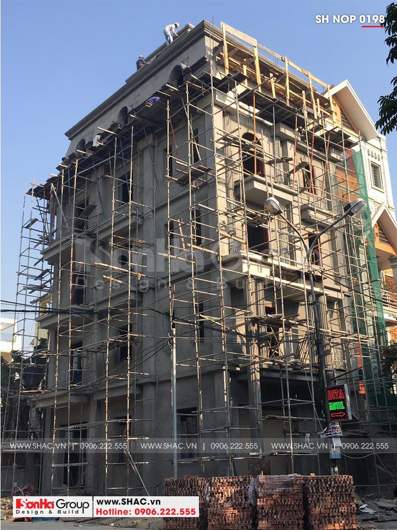 Thiết kế nhà ống bán biệt thự kiểu cổ điển Pháp 5 tầng 7,5m x 11,78m tại Hải Phòng – SH NOP 0198 29