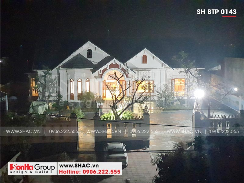 Mẫu biệt thự nhà vườn 1 tầng diện tích 22,86m x 10,16m tại Hải Phòng – SH BTP 0143 24