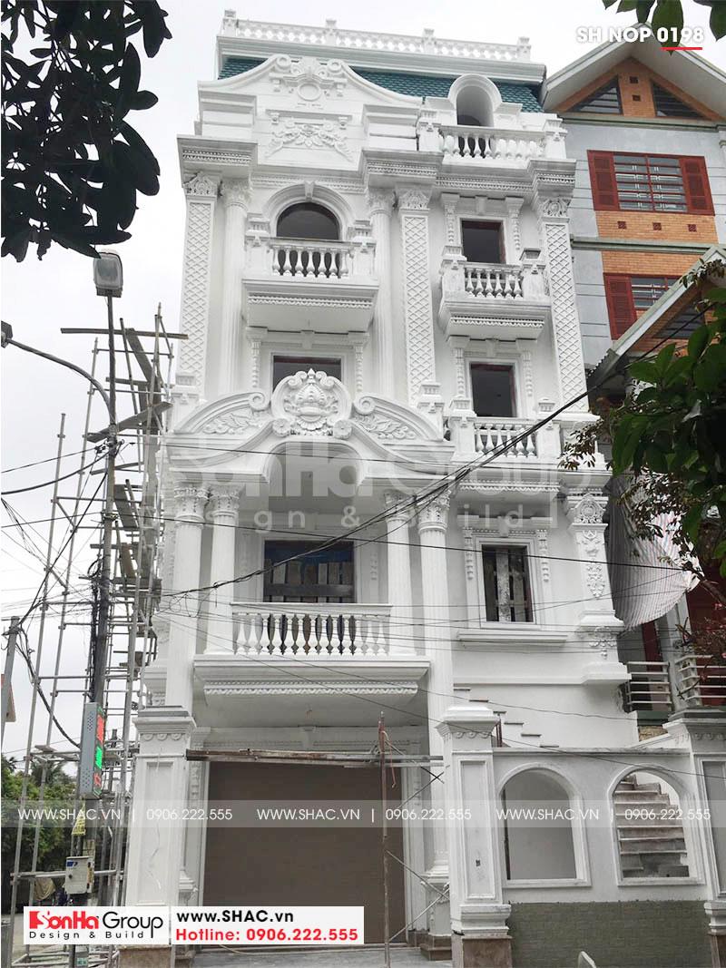 Thiết kế nhà ống bán biệt thự kiểu cổ điển Pháp 5 tầng 7,5m x 11,78m tại Hải Phòng – SH NOP 0198 2