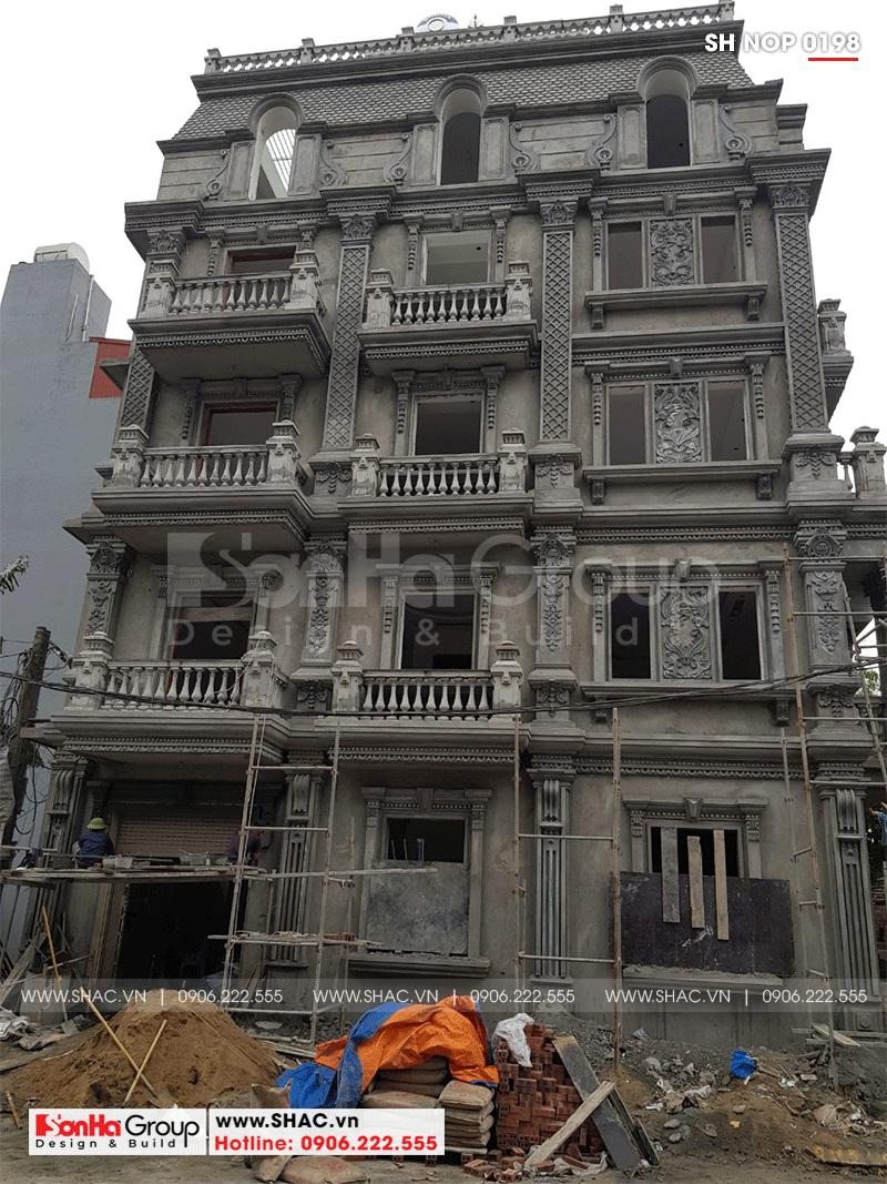 Thiết kế nhà ống bán biệt thự kiểu cổ điển Pháp 5 tầng 7,5m x 11,78m tại Hải Phòng – SH NOP 0198 27