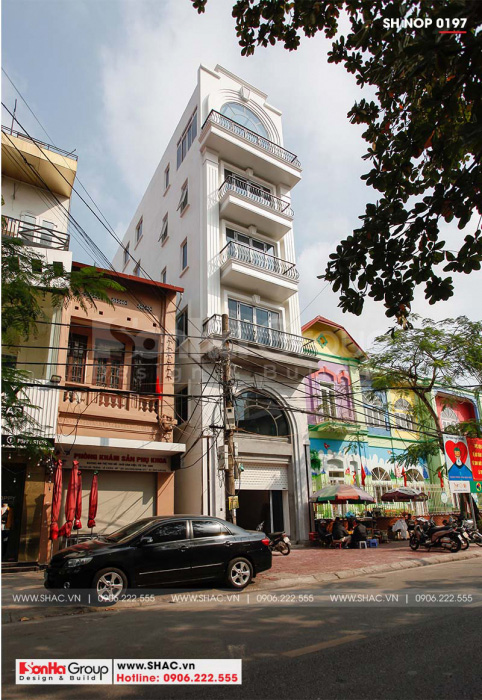 Thiết kế nhà ống 6 tầng phong cách tân cổ điển đã hoàn thiện của Sơn Hà Group