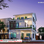1 Thiết kế biệt thự hiện đại đẹp tại quảng ninh sh btd 0077