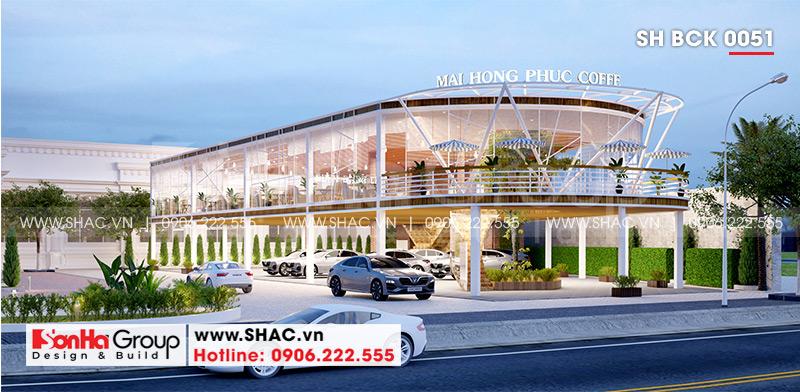 Thiết kế nhà hàng tiệc cưới hiện đại diện tích 26,2m x 45,1m tại Hải Phòng – SH BCK 0051 2