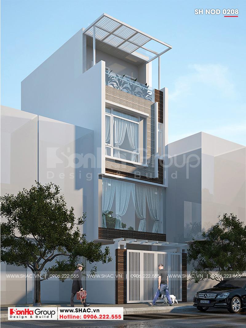 Nhà ống kiểu hiện đại 4 tầng 4,4m x 15m có gara ôtô trong nhà tại Quảng Ninh – SH NOD 0208 2