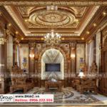 1 Thiết kế nội thất phòng khách biệt thự lâu đài đẹp tại hà nội sh btld 0040