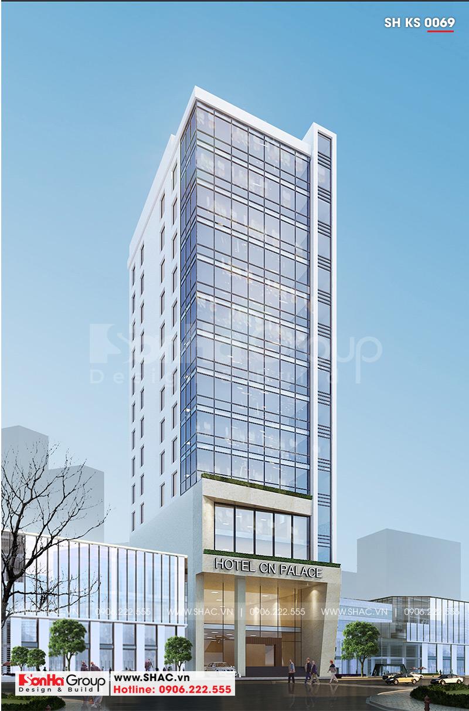 Thiết kế khách sạn hiện đại đảm bảo tiêu chuẩn thiết kế 4 sao sang trọng xa hoa