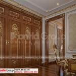 10 Bố trí nội thất khu thay đồ phòng ngủ vip 2 biệt thự lâu đài mặt tiền 10,15m tại hà nội sh btld 0040