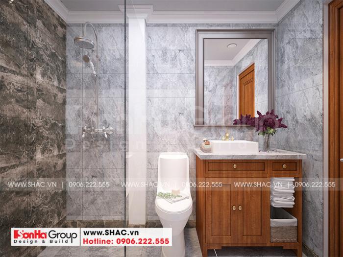 Mẫu nội thất phòng tắm, vệ sinh cao cấp dành biệt thự tân cổ điển đẹp tại Vĩnh Long
