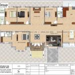 11 Bản vẽ tầng 1 biệt thự tân cổ điển có hồ bơi tại hải phòng sh btp 0143